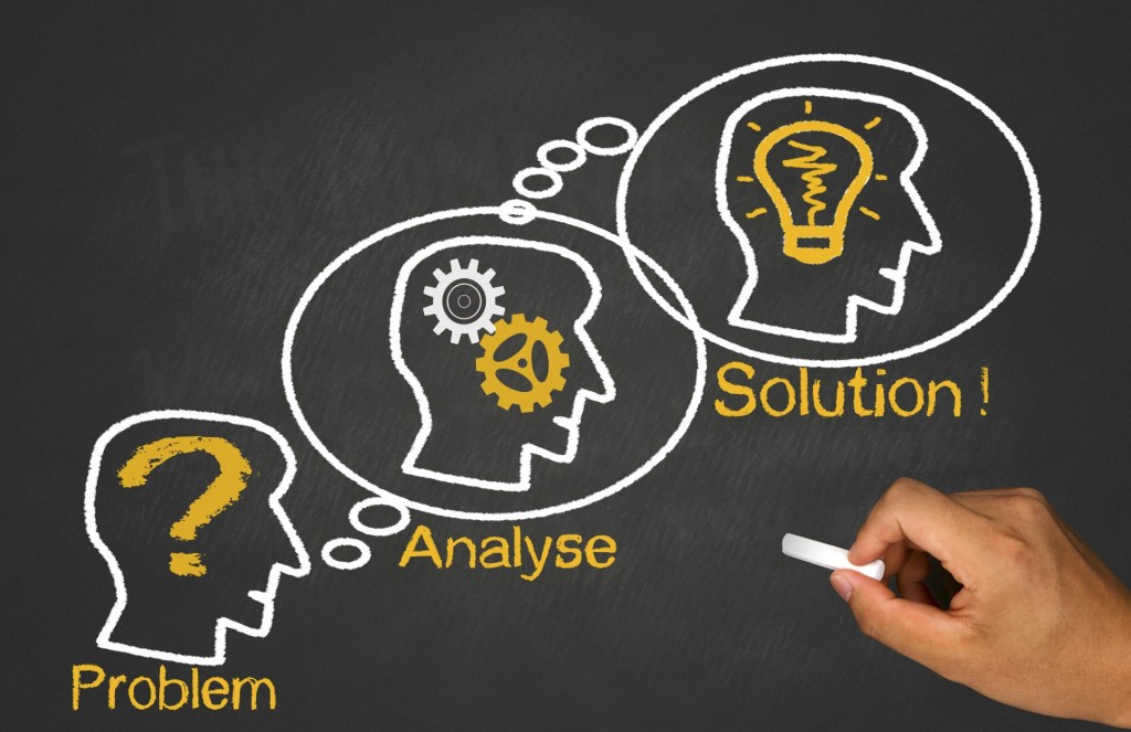 idea concept: problem analyse solution